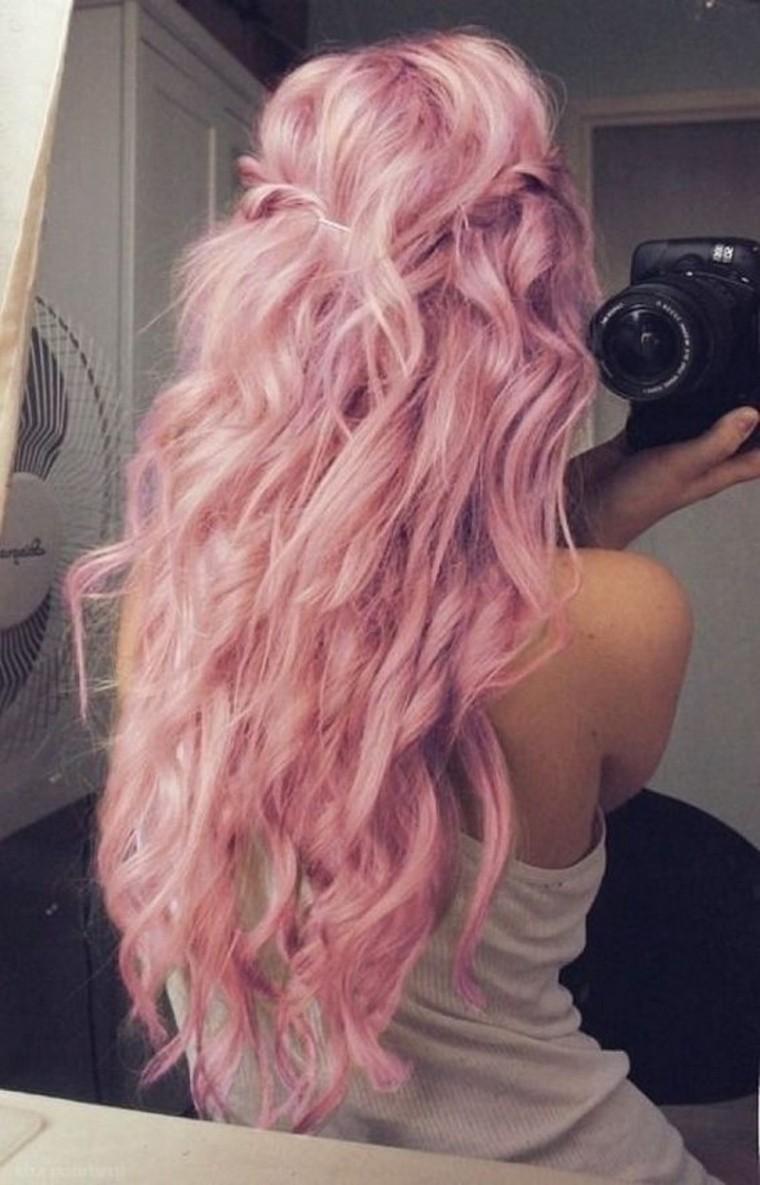 Les couleurs de cheveux tendance_rose pastel_wp