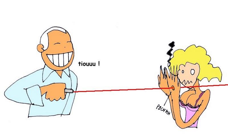 GB_un chirurgien gravait au laser ses initiales sur le foie des patients_laser-humour_wp