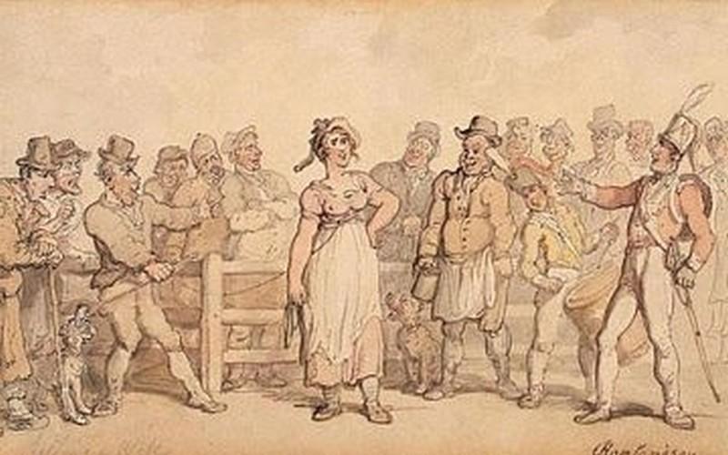 Journée Internationale de la Femme 2019_selling-a-wife-1812-1814-dessin-thomas-rowlandson_wp